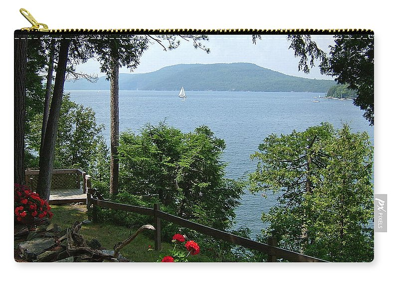 Summer Carry-all Pouch featuring the photograph The Lake by Susan Wyman