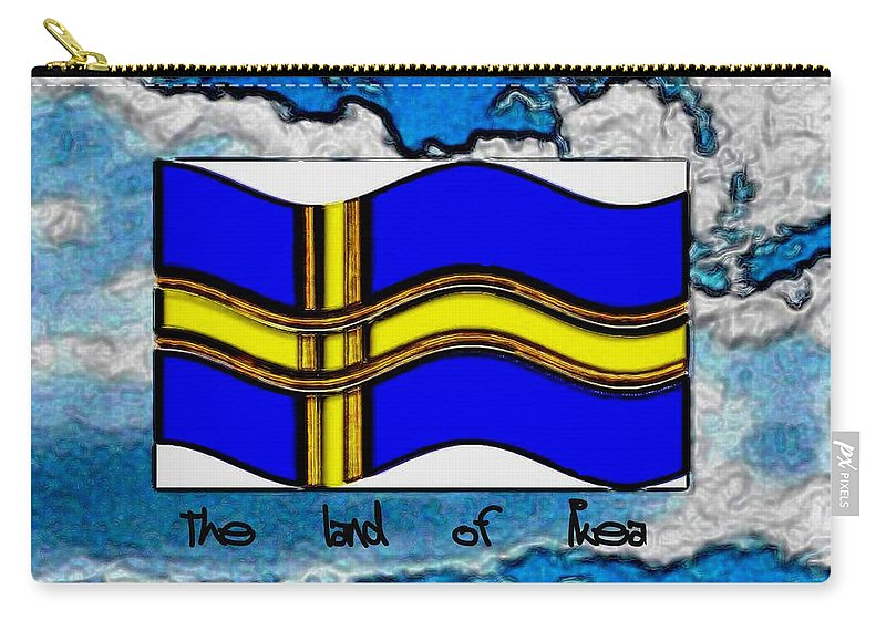 Map Carry-all Pouch featuring the mixed media The Land Of Ikea by Pepita Selles