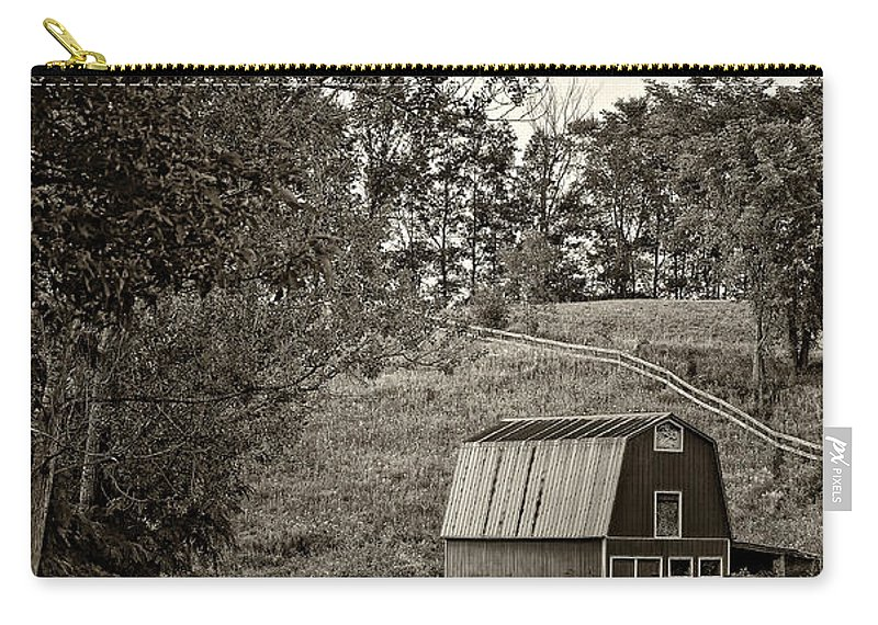 Lane Carry-all Pouch featuring the photograph The Lane Sepia by Steve Harrington