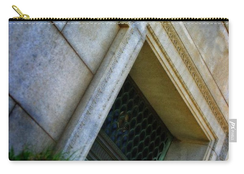 Grave Carry-all Pouch featuring the photograph The Last Door by Henrik Lehnerer