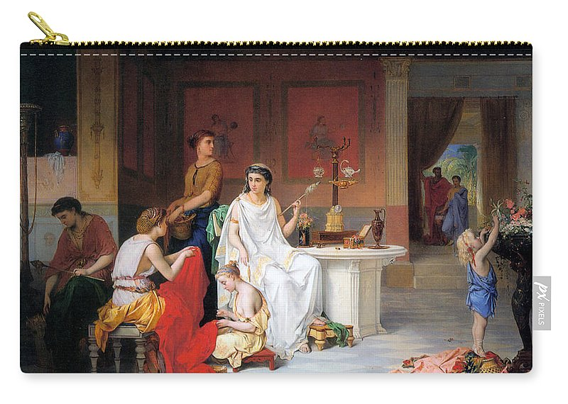 Pierre Coomans Carry-all Pouch featuring the digital art The Last Hour Of Pompeii by Pierre Coomans