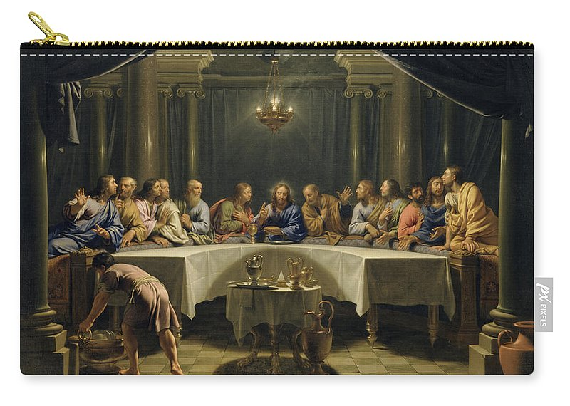 The Last Supper Carry All Pouch For Sale By Jean Baptiste De Champaigne