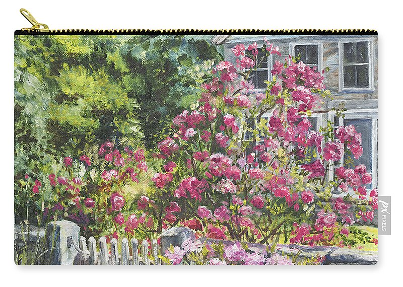 Roses Carry-all Pouch featuring the painting The Late Show by Susan Hanna