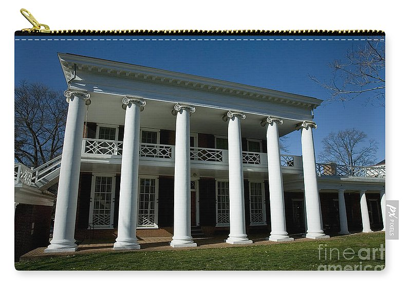 University Of Virginia Uva Charlottesville Virginia Carry-all Pouch featuring the photograph The Lawn At Uva by Jason O Watson