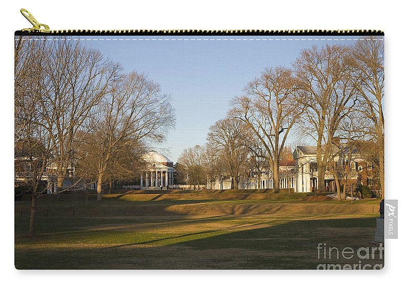 University Of Virginia Carry-all Pouch featuring the photograph The Lawn University Of Virginia by Jason O Watson