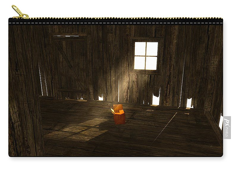 Scene Carry-all Pouch featuring the digital art The Left Behind... by Tim Fillingim