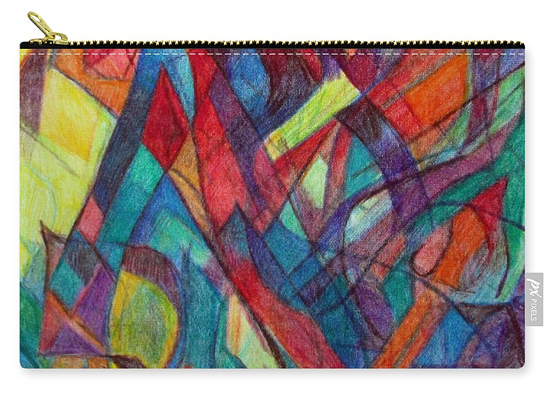Torah Carry-all Pouch featuring the drawing The Letter Alef 3 by David Baruch Wolk