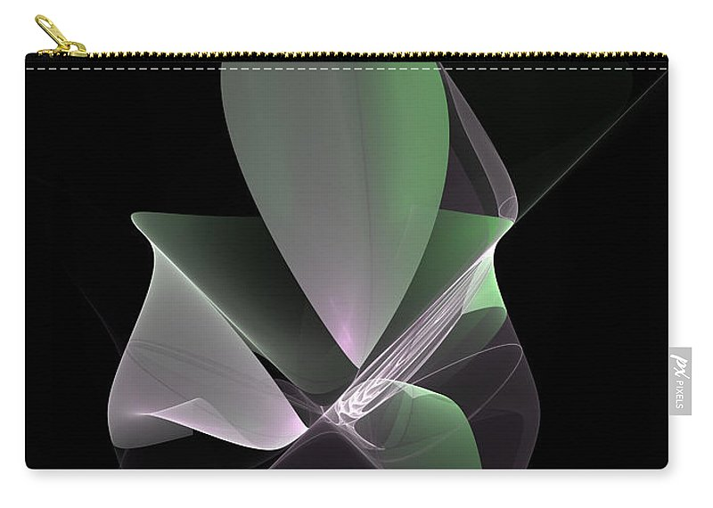Abstract Carry-all Pouch featuring the digital art The Light Inside by Gabiw Art