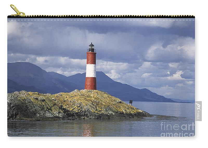 Lighthouse Carry-all Pouch featuring the photograph The Lighthouse At The End Of The World by James Brunker