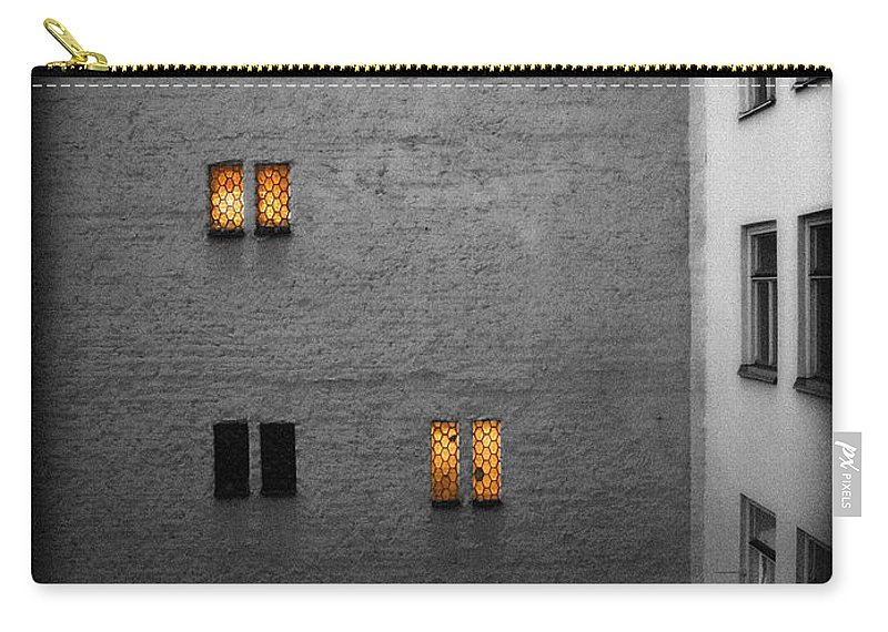 Orange Carry-all Pouch featuring the photograph The Lights Are On by Jessica Velasco