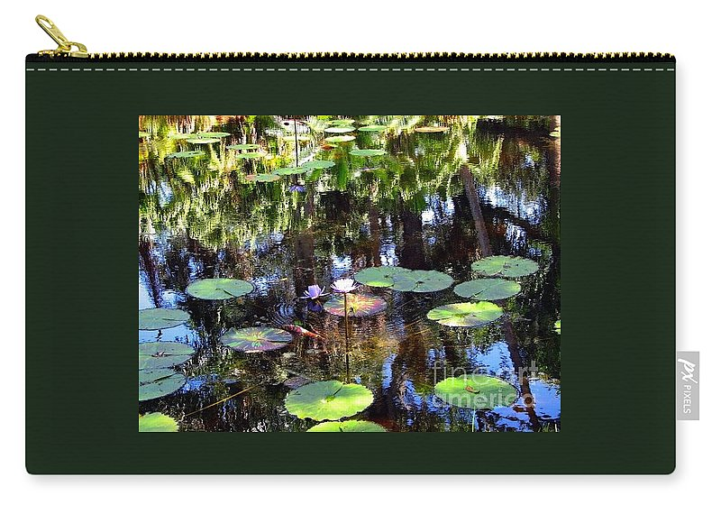 The Lily Pond Carry-all Pouch featuring the photograph The Lily Pond by Anita Lewis
