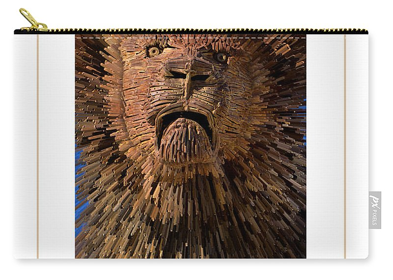 Lion Carry-all Pouch featuring the photograph The Lion Poster by Mike Nellums