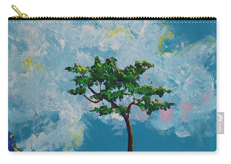 Fantasy Carry-all Pouch featuring the painting The Little Grove - Little Tree by Stefan Duncan