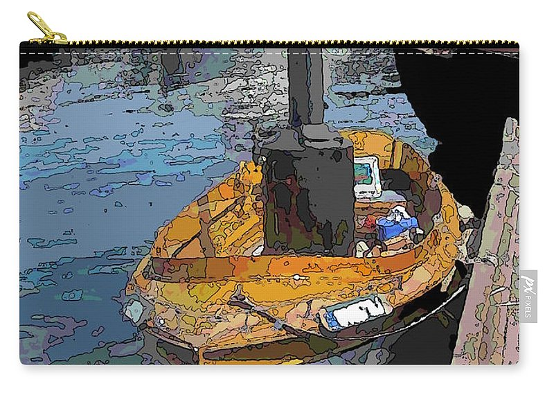 Steam Carry-all Pouch featuring the digital art The Little Steamboat That Could by Tim Allen