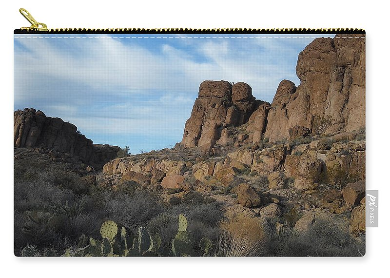 Landscape Carry-all Pouch featuring the photograph The Living Desert Of Arizona by James Welch