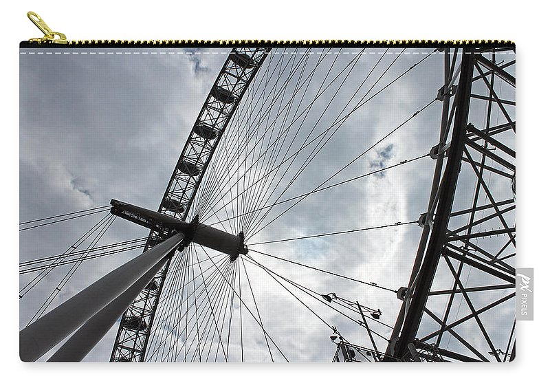 London Carry-all Pouch featuring the photograph The London Eye by Tony Murtagh