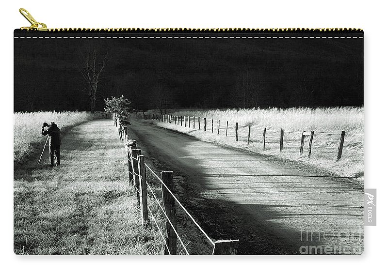 Sparks Lane Carry-all Pouch featuring the photograph The Lone Photographer by Douglas Stucky