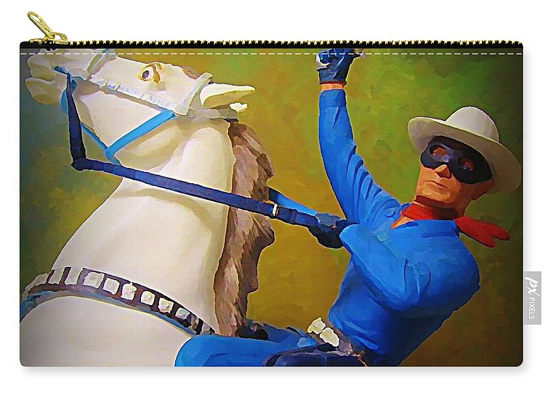 Americana Carry-all Pouch featuring the painting The Lone Ranger Rides Again by John Malone
