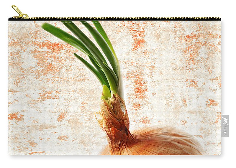 Onion Carry-all Pouch featuring the photograph The Lonely Onion by Andee Design