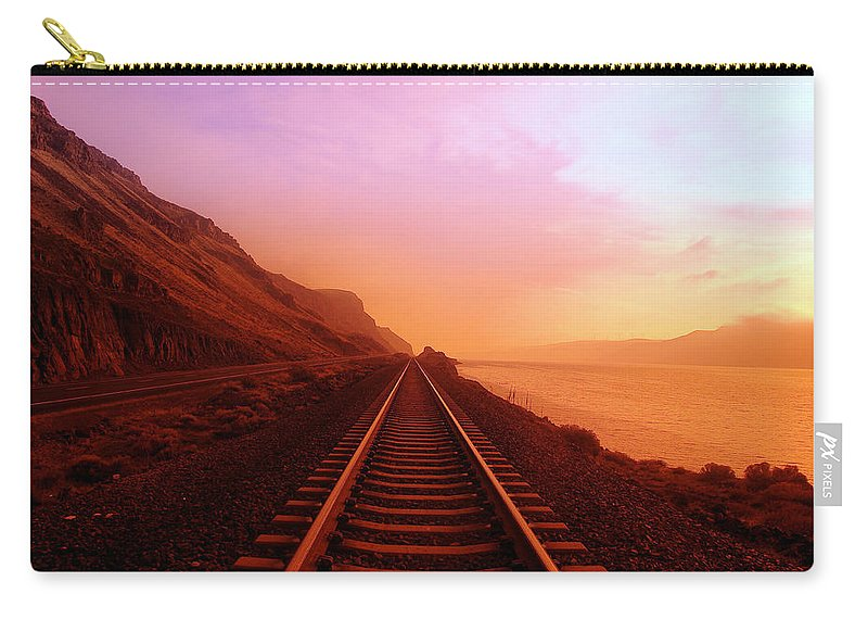 Columbia River Carry-all Pouch featuring the photograph The Long Walk To No Where by Jeff Swan