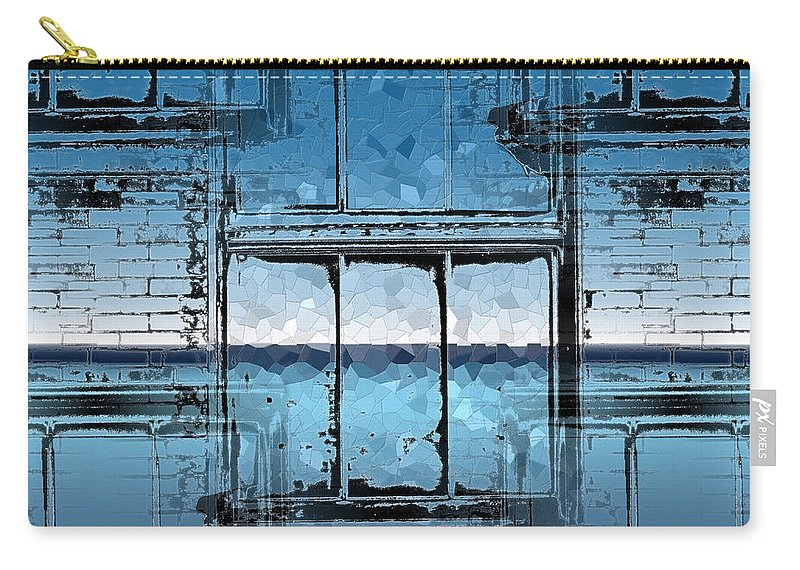 Abstract Carry-all Pouch featuring the digital art The Looking Glass Reprised by Tim Allen