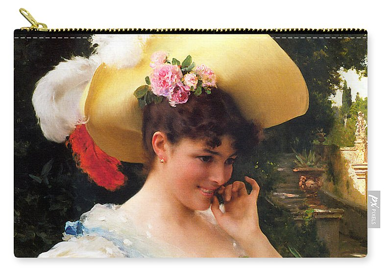 Federico Andreotti Carry-all Pouch featuring the painting The Love Letter Detail by Federico Andreotti