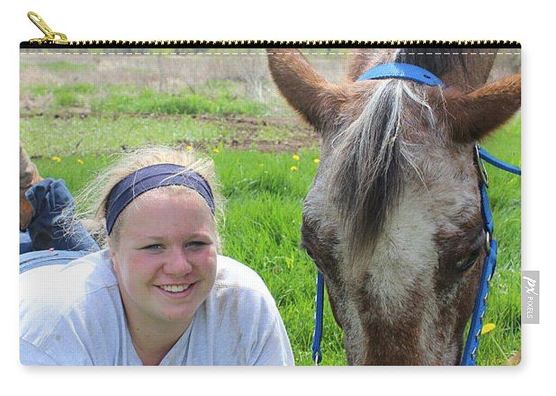 Horse Carry-all Pouch featuring the photograph The Love Of Pets by Tiffany Erdman