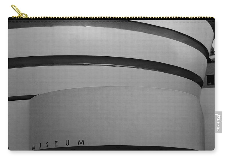 Scenic Carry-all Pouch featuring the photograph The M Museum In Black And White by Rob Hans