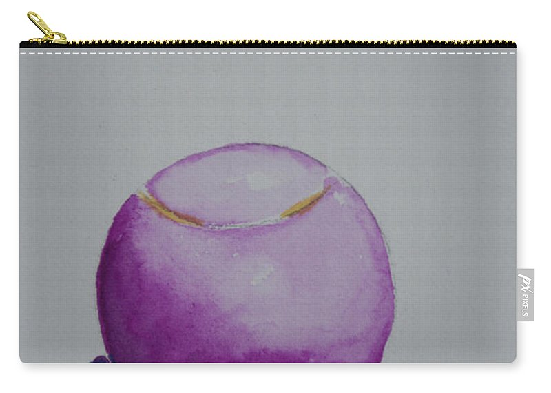 Tennis Ball Carry-all Pouch featuring the painting The Magenta by Susan Herber
