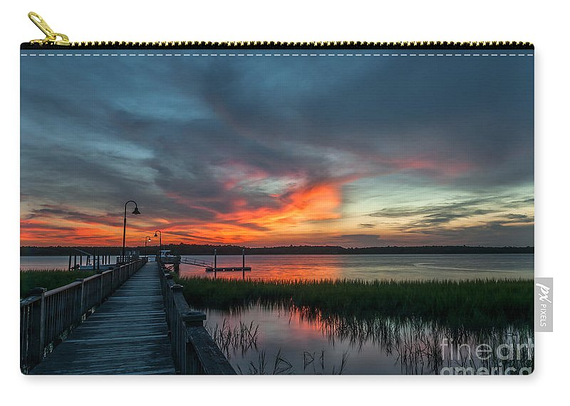 Sunset Carry-all Pouch featuring the photograph The Magic Hour by Dale Powell