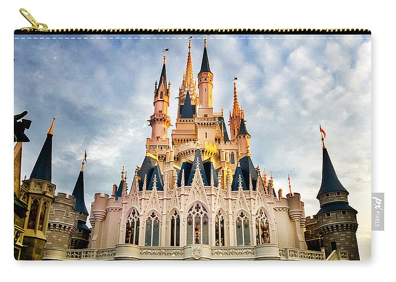 Castle Carry-all Pouch featuring the photograph The Magic Kingdom by Greg Fortier