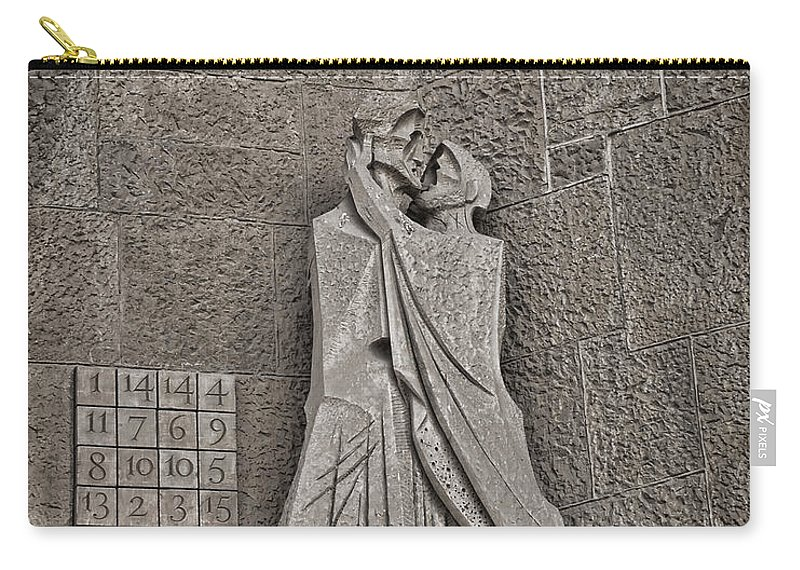 Passion Facade Carry-all Pouch featuring the digital art The Magic Square by Anita Hubbard