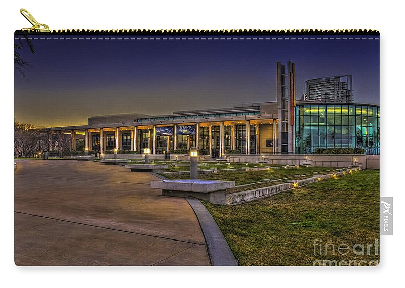 Theater Carry-all Pouch featuring the photograph The Mahaffey Theater by Marvin Spates