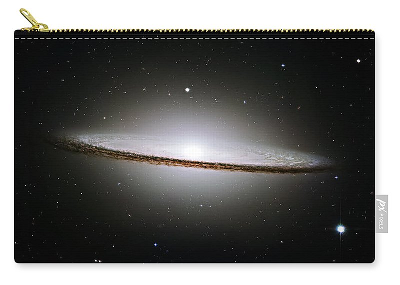 M104 Carry-all Pouch featuring the photograph The Majestic Sombrero Galaxy by Ricky Barnard