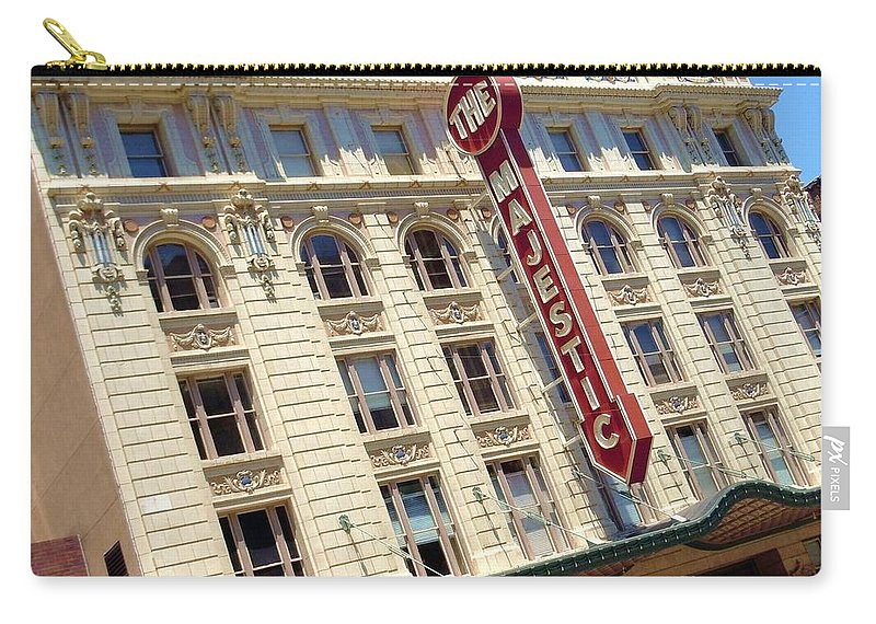 Majestic Theater Carry-all Pouch featuring the photograph The Majestic Theater Dallas #1 by Robert ONeil