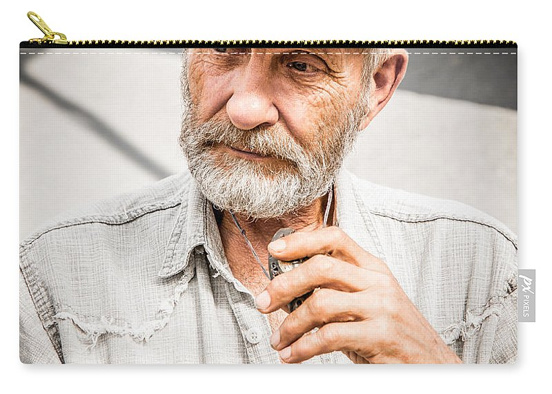 Man Carry-all Pouch featuring the photograph The Man by Andrew Matwijec