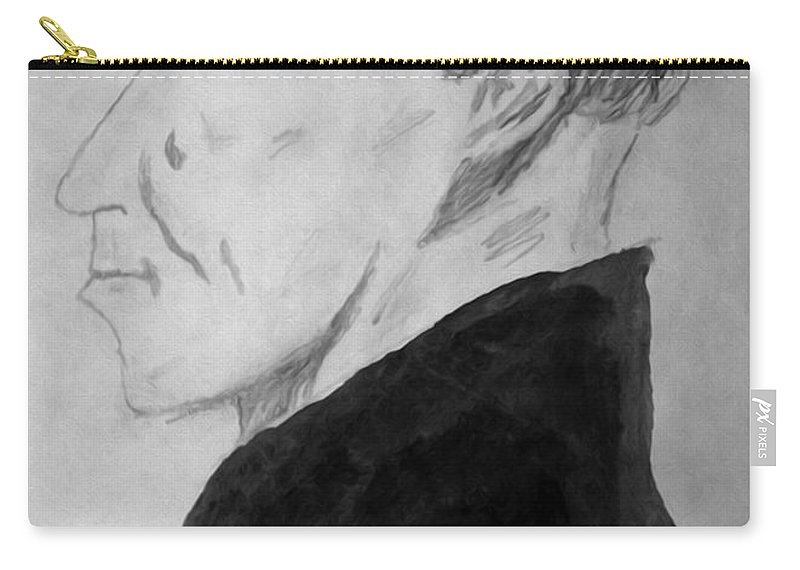 Man Carry-all Pouch featuring the digital art The Man From Room 4 by Bruce Stanfield