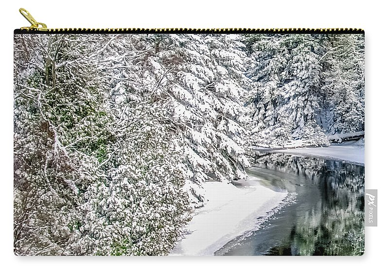 Manistee River Carry-all Pouch featuring the photograph The Manistee River by Optical Playground By MP Ray