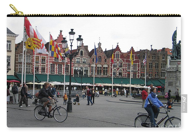 Bruges Carry-all Pouch featuring the photograph The Markt Bruges Belgium by Jason O Watson
