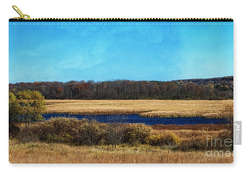 The Marsh Carry-all Pouch featuring the photograph The Marsh by Mary Machare