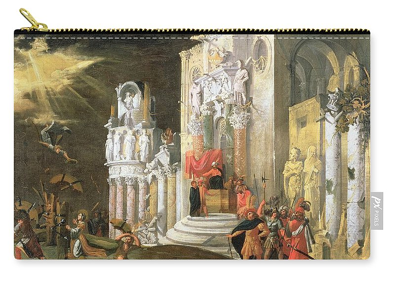 Martyr Carry-all Pouch featuring the painting The Martyrdom Of St. Catherine, 17th by Monsu Desiderio