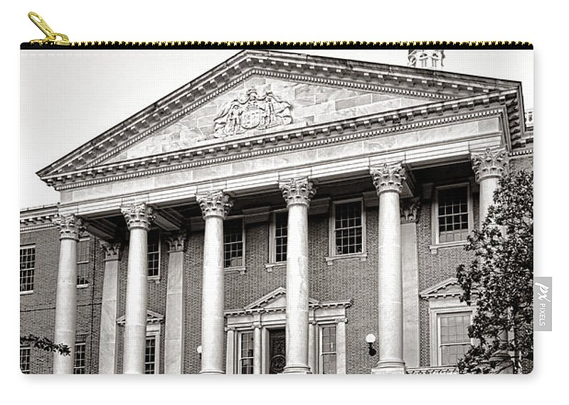 Maryland Carry-all Pouch featuring the photograph The Maryland State House by Olivier Le Queinec