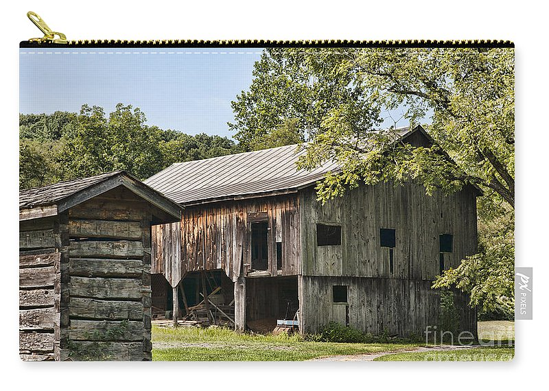 Mathias Homestead Carry-all Pouch featuring the photograph The Mathias Homestead Built In 1797 At Mathias West Virginia by William Kuta