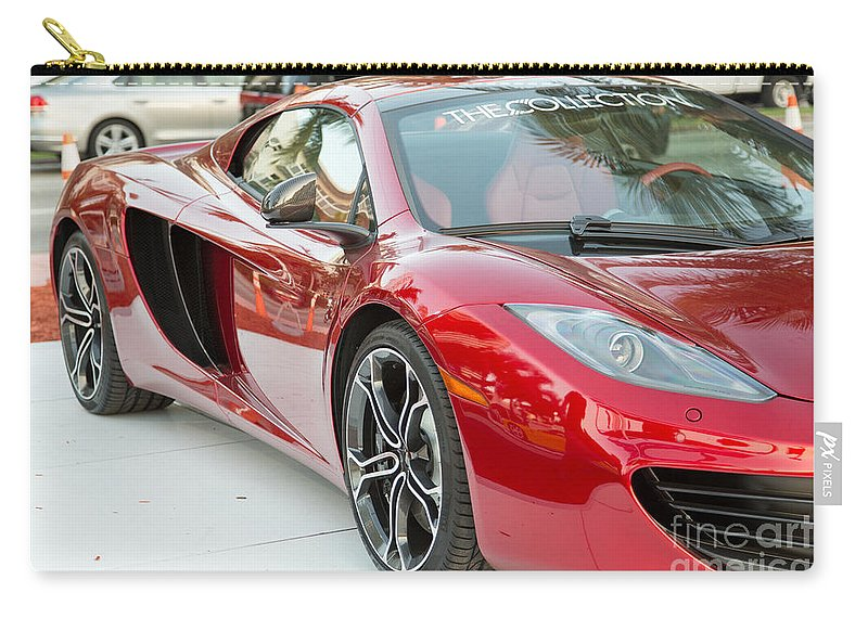 The Collection Carry-all Pouch featuring the photograph The Mclaren Apple Red Collection by Rene Triay Photography