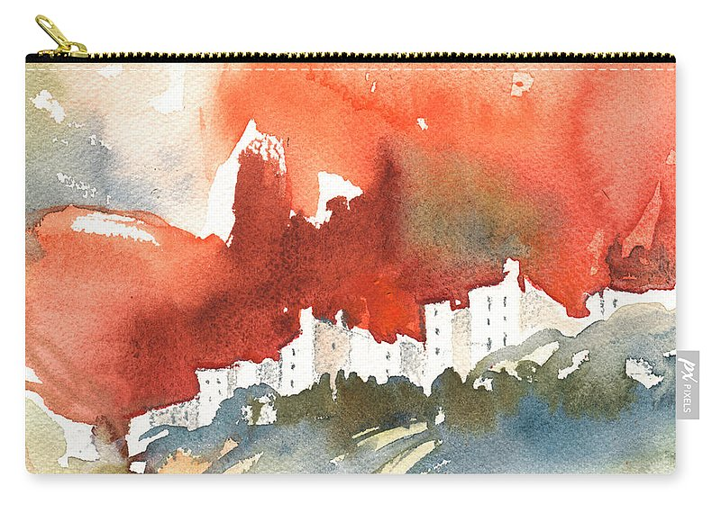 Travel Carry-all Pouch featuring the painting The Menerbes Where Nicolas De Stael Lived by Miki De Goodaboom