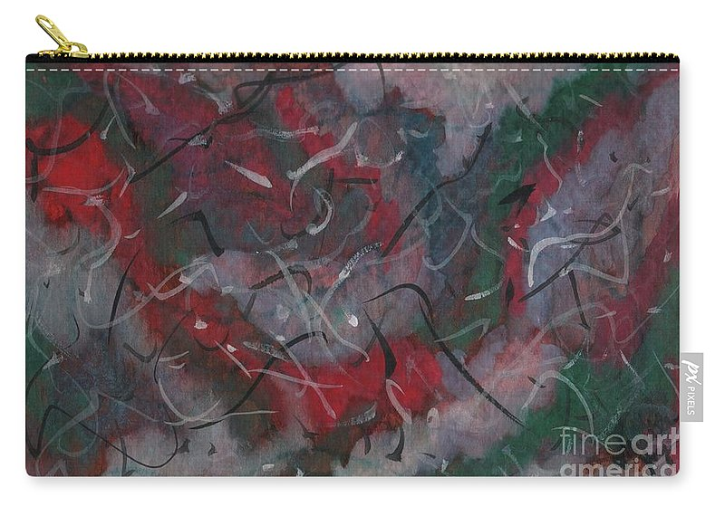 Abstract Carry-all Pouch featuring the painting The Mexican Fiesta by Myrtle Joy