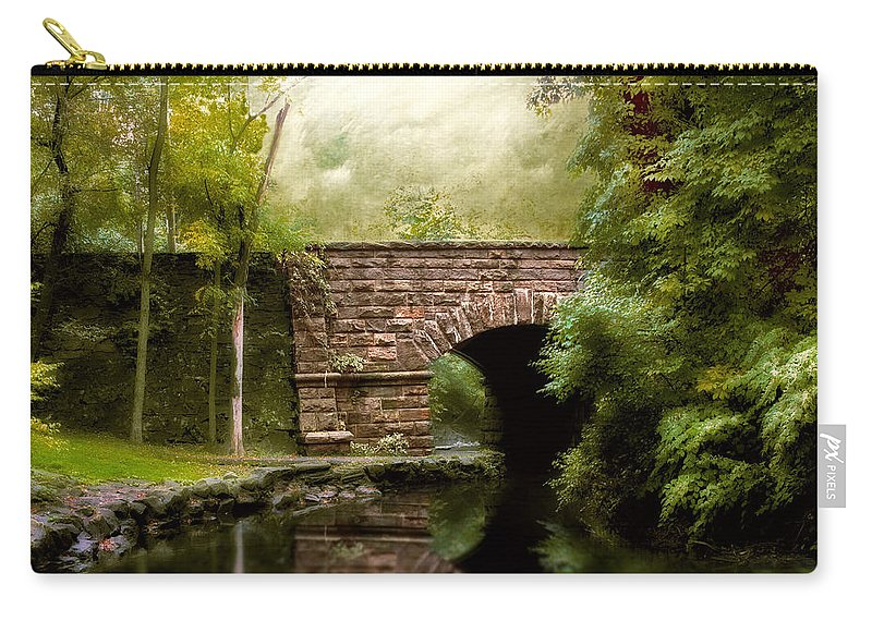 Bridge Carry-all Pouch featuring the photograph The Midland Bridge by Jessica Jenney
