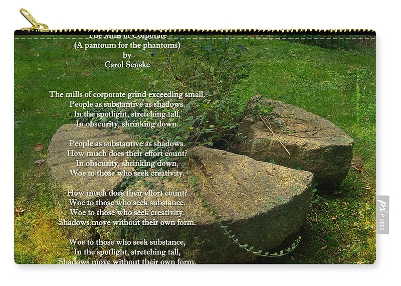 Rules Carry-all Pouch featuring the photograph The Mills Of Corporate - Poem And Image by Mother Nature