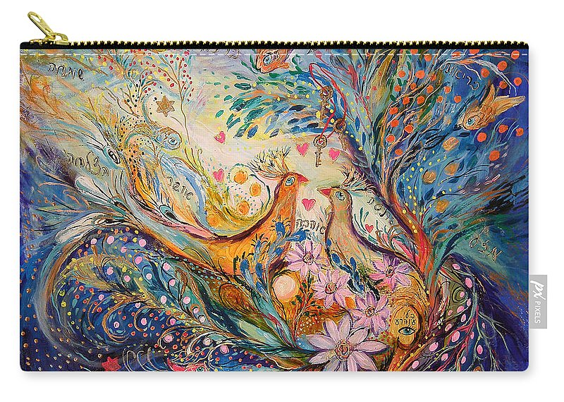 Original Carry-all Pouch featuring the painting The Miracle Of Love by Elena Kotliarker