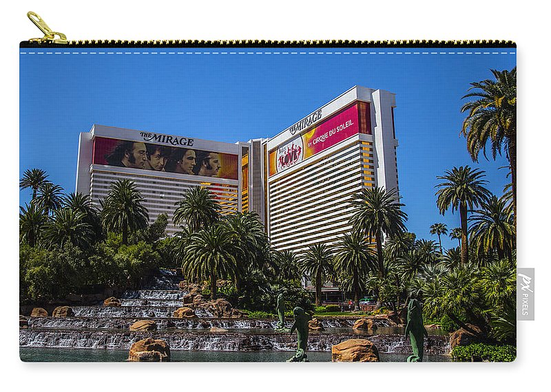Las Vegas Carry-all Pouch featuring the photograph The Mirage by Angus Hooper Iii